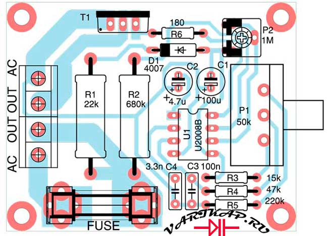 печатная плата регулятора вращения двигателя