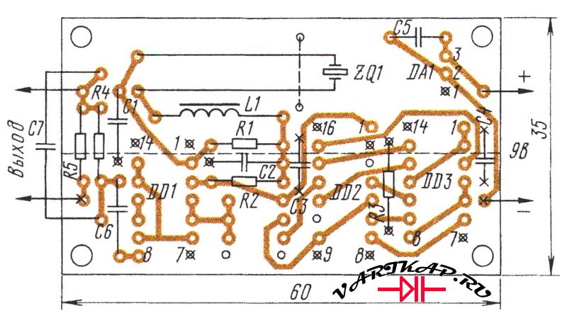 печатка генератора меток