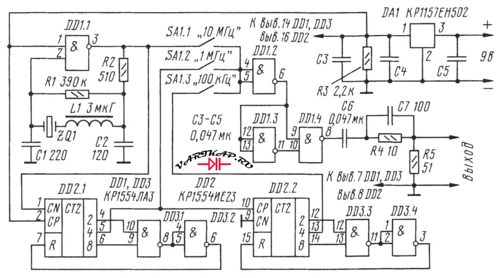 схема генератора меток