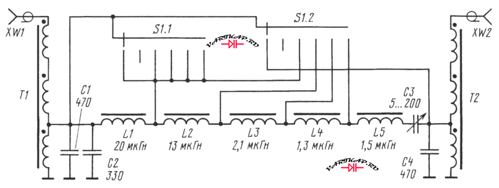 схема кв преселектора