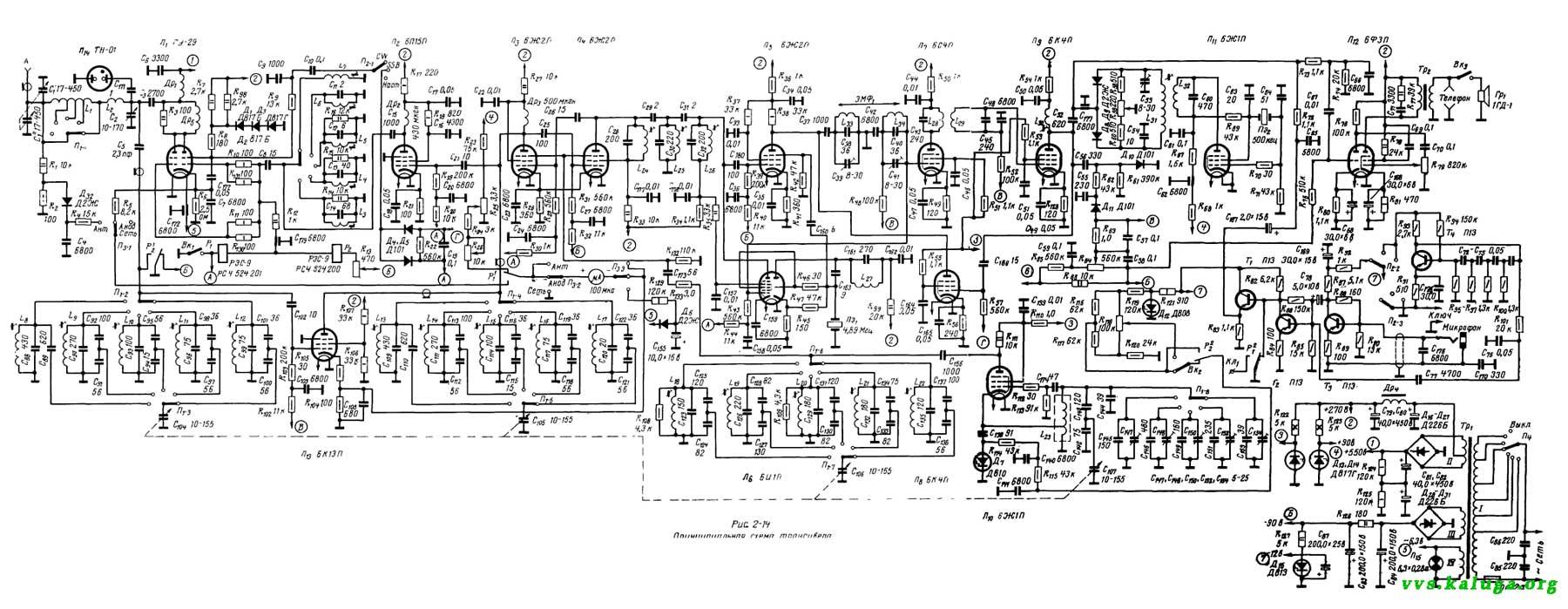 Коротковолновый трансивер UA1FA ДЛ69