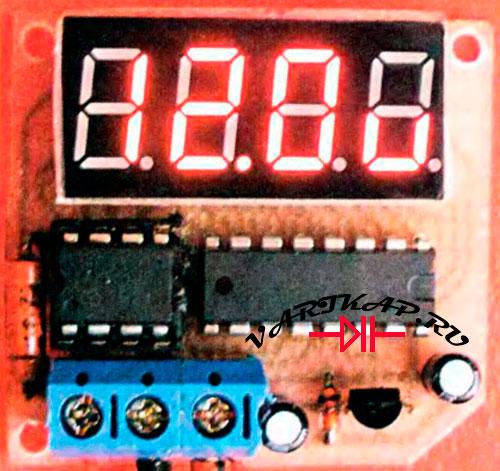 Встраиваемый вольтметр на PIC12F675