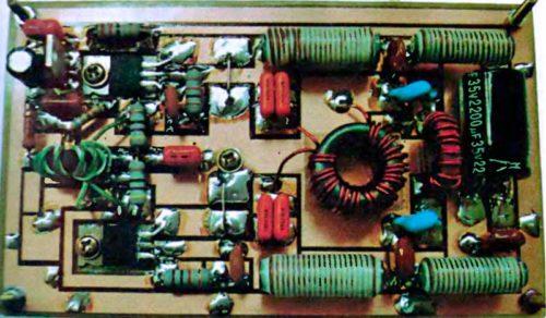Линейный транзисторный КВ усилитель мощностью 50 Вт
