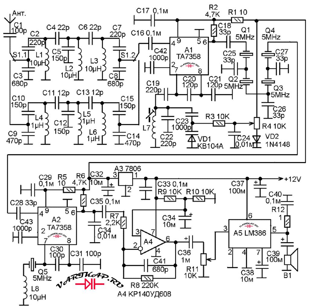 Индуктивность катушек гетеродина кв диапазона 80 метров