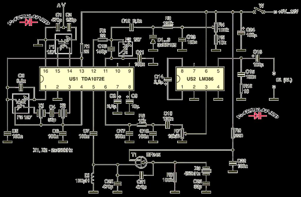 схема приемника CW SSB 80 метров