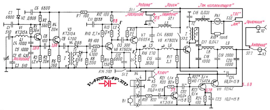 Транзисторный передатчик на 160 метров