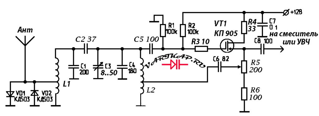 Простой умножитель добротности на полевом транзисторе КП905