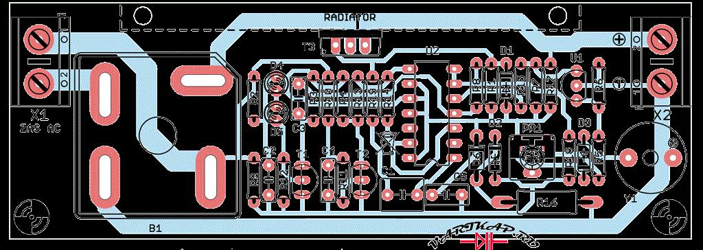 Зарядка 12 вольтовых свинцовых аккумуляторов печатная плата