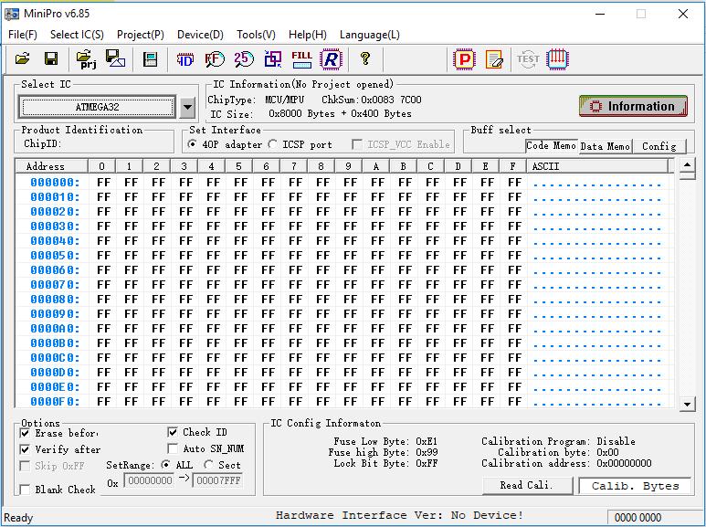 Программного обеспечения программатор MiniPro TL866A