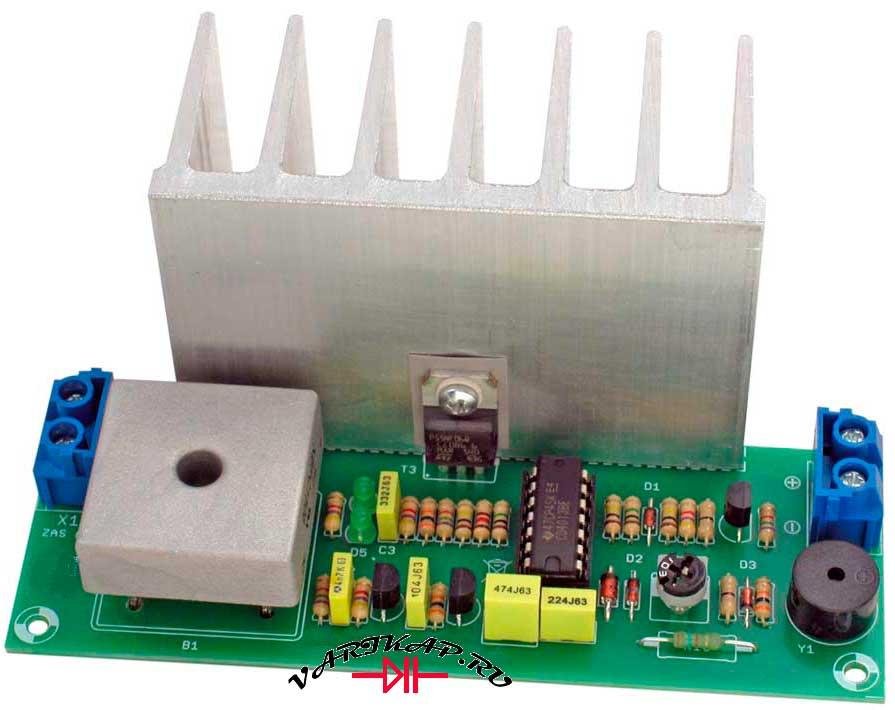 Зарядка 12 вольтовых свинцовых аккумуляторов внешний вид платы