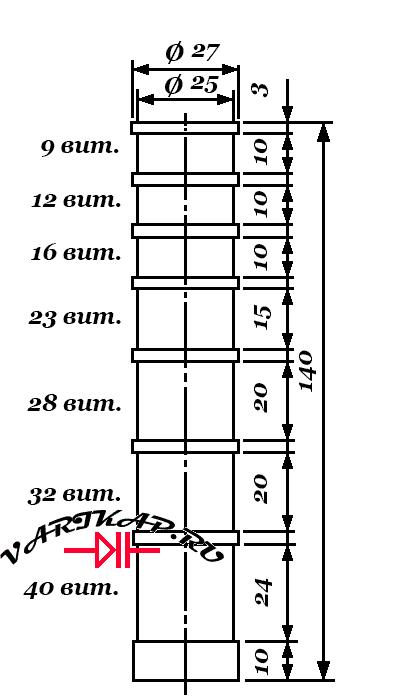 Конструкция и число витков дросселя
