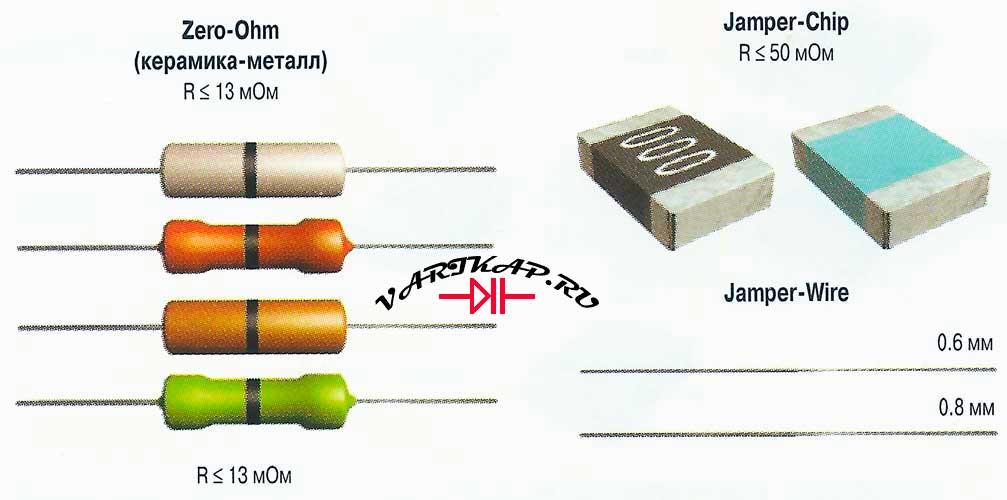 Перемычки и резисторы с «нулевым» сопротивлением