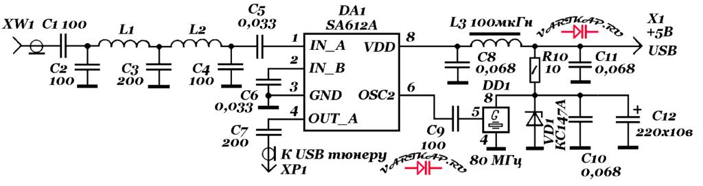 Радиоприём КВ-диапазонов USB-тюнером