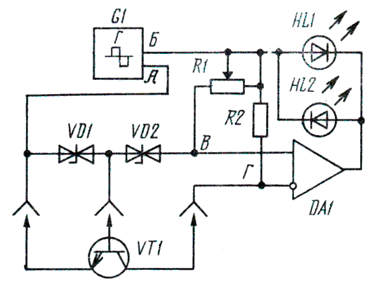 Структурная схема испытатель транзисторов