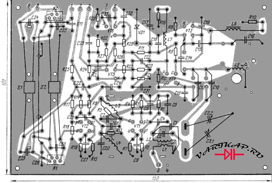интерполятор к UW3DI выполнен на печатной плате