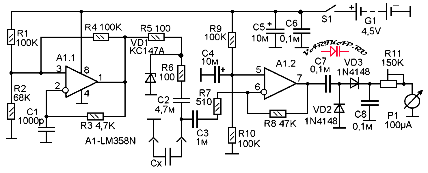 Пробник ESR конденсаторов