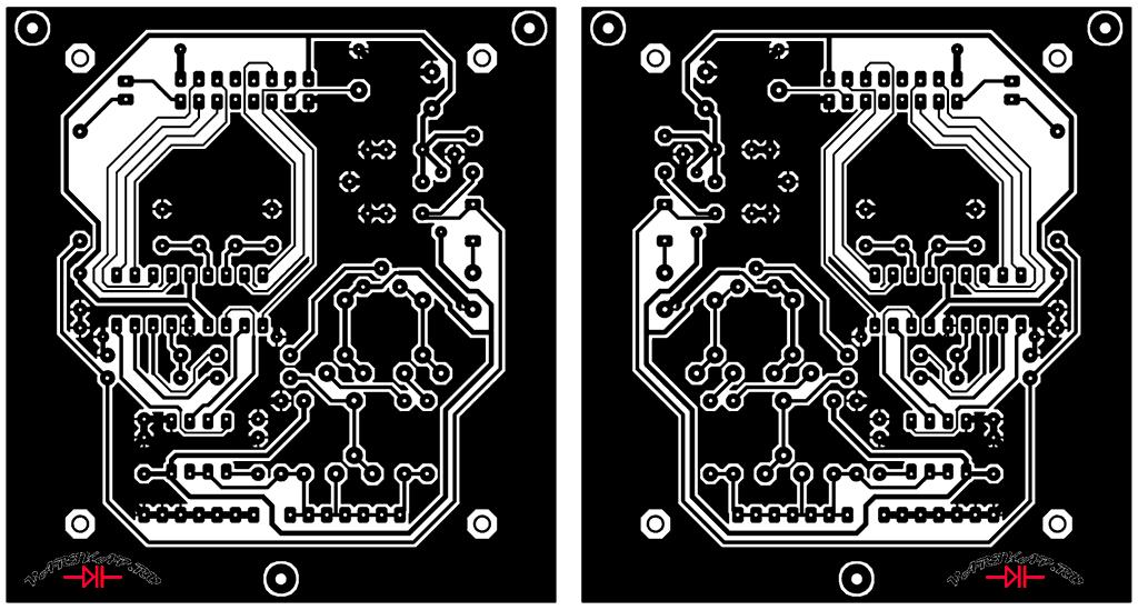Макет печатной платы автоматический измеритель ёмкости