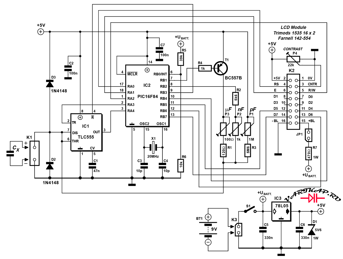 Автоматический измеритель емкости