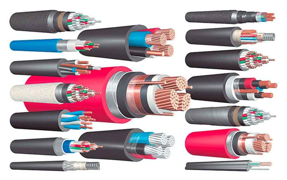 Ощий вид кабелей