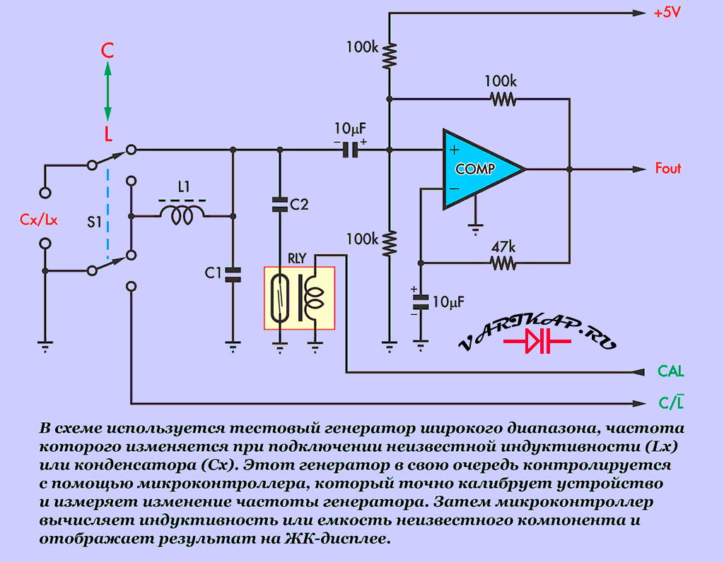 Измерение цифровой LC-метр