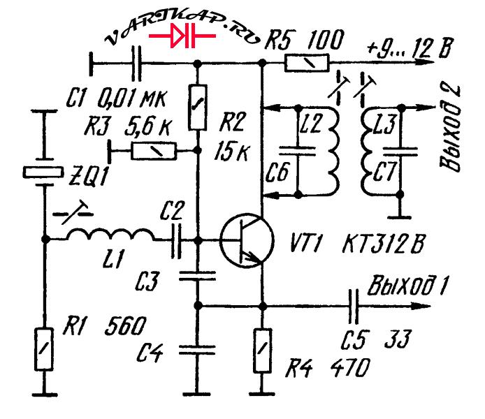 Схема кварцевый генератор