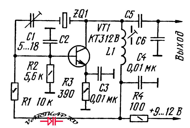 Кварцевый генератор схема посложней