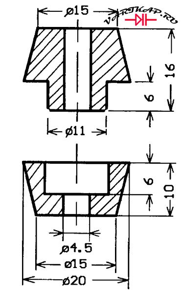 проходной керамический изолятор