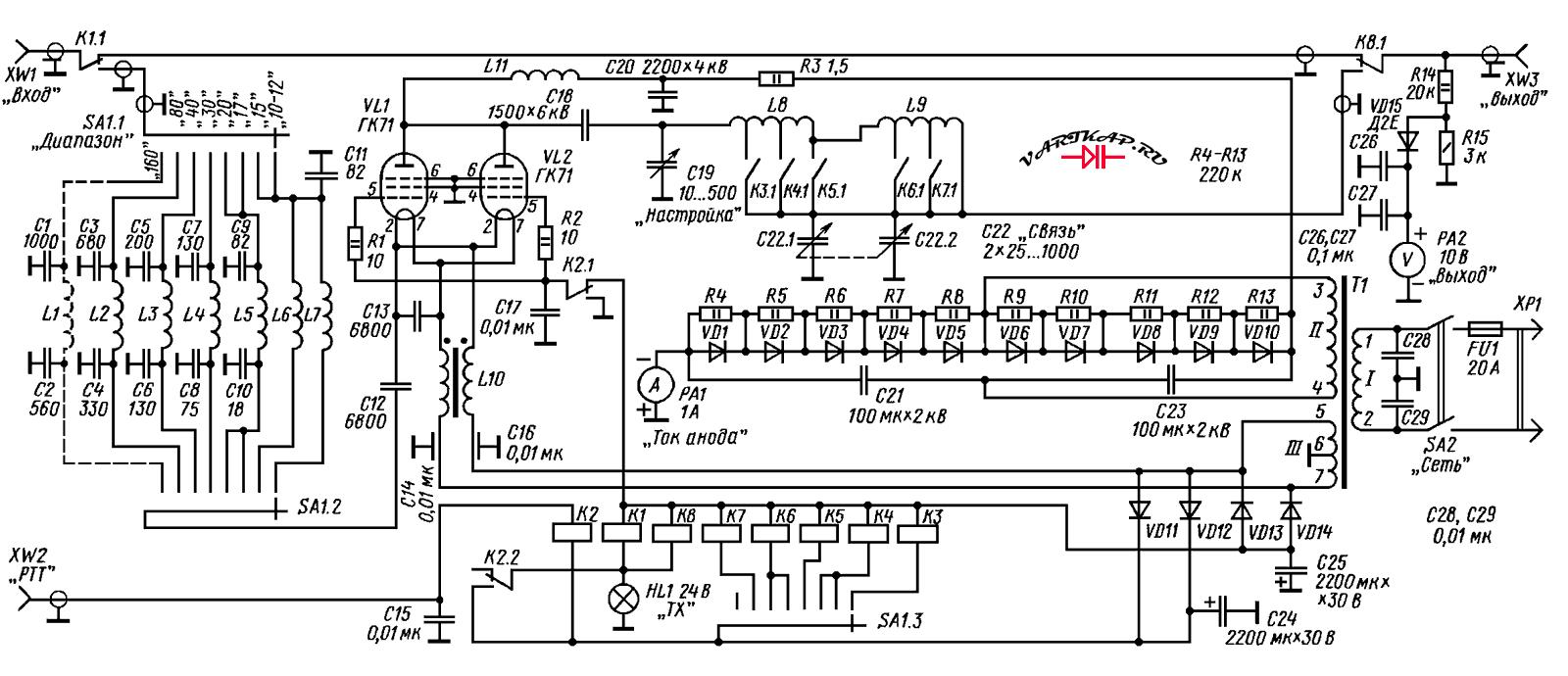 Киловатный усилитель на ГК-71