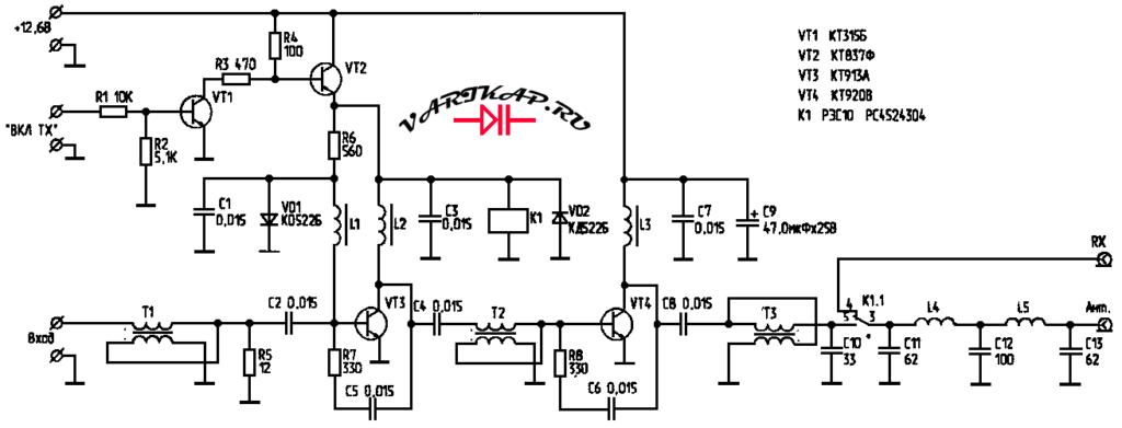Простой усилитель мощности диапазона 50 МГЦ