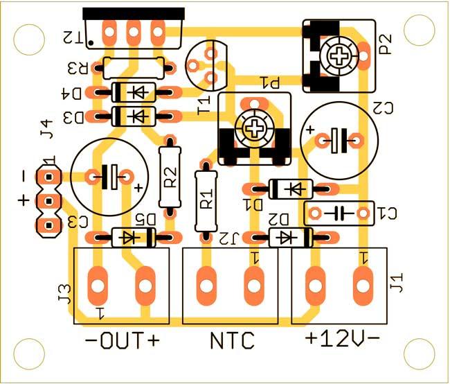 печатная плата контроллер вентилятора с плавным вращением