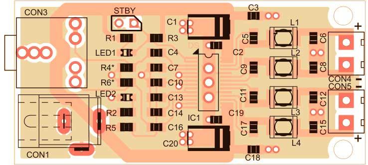 схема расположение компонентов