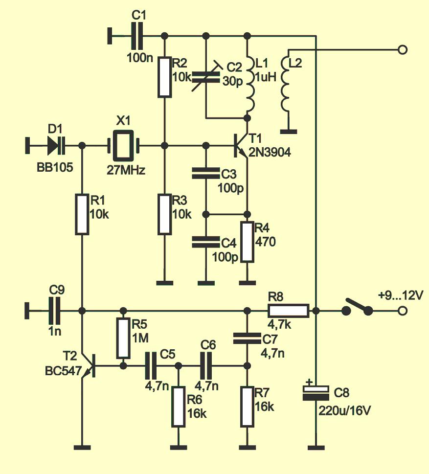 Простой FM-генератор схема