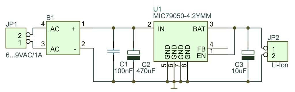 Схема зарядное устройство Li-Ion