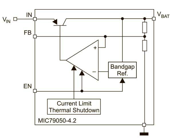 Зарядное устройство Li-Ion блок-схема