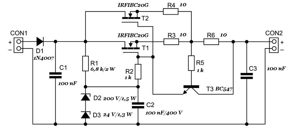 Стабилизатор напряжения для ламповых схем