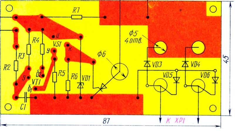 печатная плата тиристорный регулятор двигателя