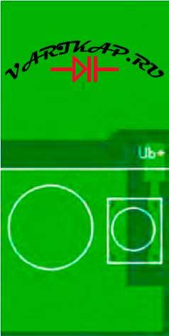 Верх устройства и кнопка