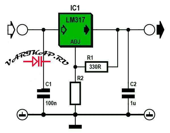 Расчет стабилизатора LM317
