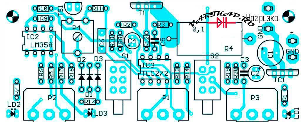 Электронная нагрузка в хозяйстве радиолюбителя расположение компонентов