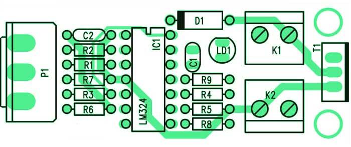 Печатная плата ШИМ-контроллер для устройств 12В