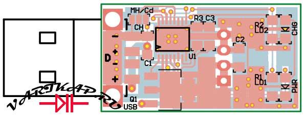 Печатная плата USB микро зарядное устройство