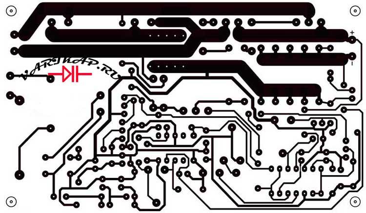 Разводка печатной платы зарядка для аккумуляторов