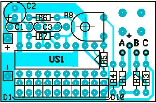 Печатная плата монитор состояния литий-ионной батареи