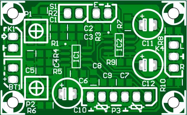 Печатная плата стереодекодер к мини FM приемнику
