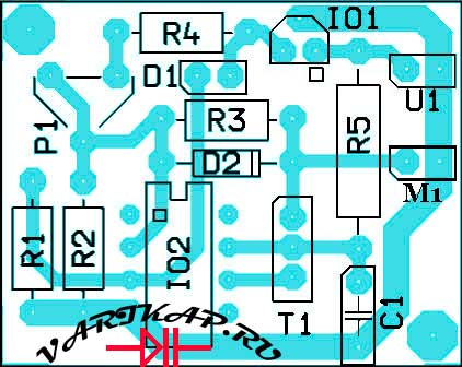 Расположение компонентов универсальный регулятор вентилятора охлаждения