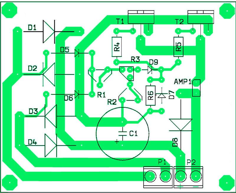Расположение компонентов на печатной плате зарядное устройство на транзисторах IRF540