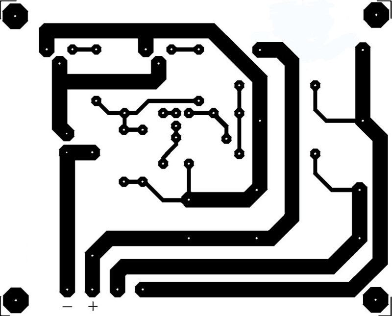 Разводка платы зарядное устройство на транзисторах IRF540