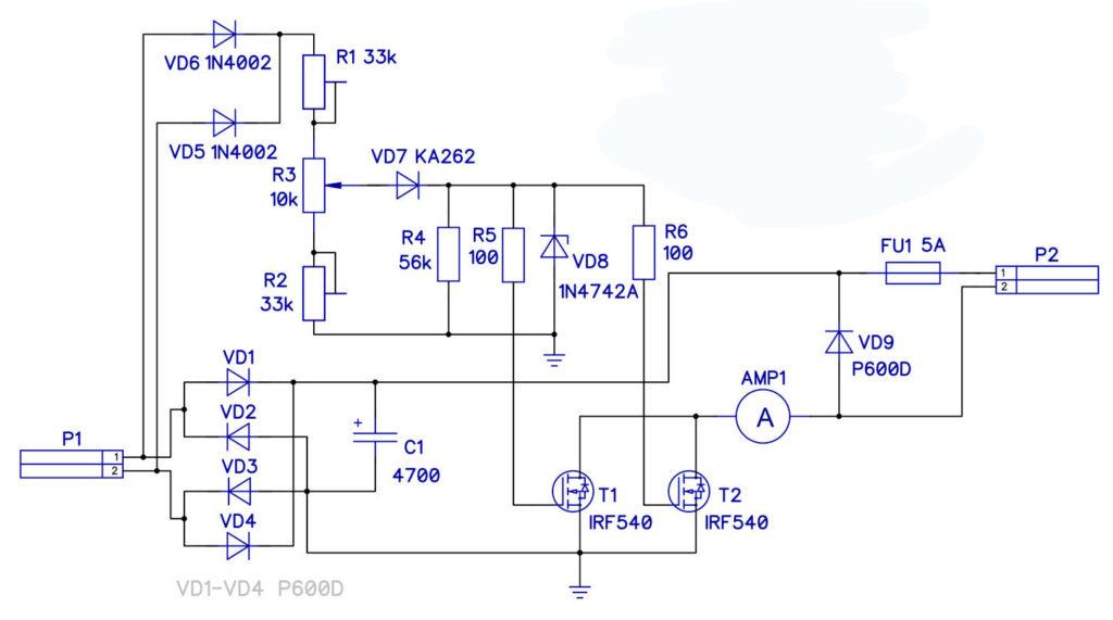Зарядное устройство на транзисторах IRF540