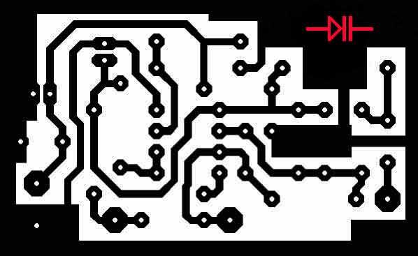 Разводка печатной платы индикатор электромагнитного поля