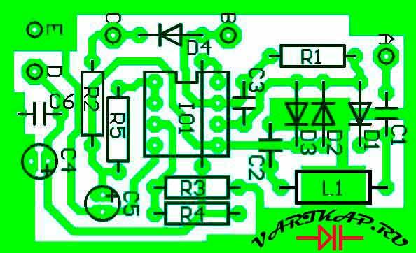Расположение компонентов индикатор электромагнитного поля